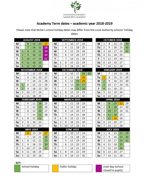 Term Dates | NUSA